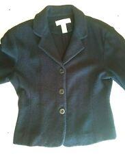 JONES NEW YORK - Small - Navy Blue Boiled 100% Merino Wool Cardigan Jacket
