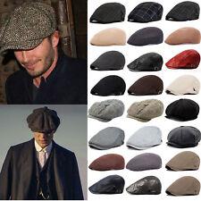 Men Women Gatsby Newsboy Cabbie lvy Hat Retro Peaked Driving Golf Beret Flat Cap