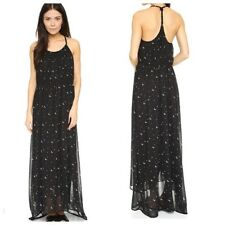 Women's Wildfox Moon & Stars Black Maxi Dress Sleeveless Sample Small S NWT