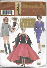 Simplicity Doll Collector's Club Pattern 7037 Extravagant Eighties