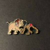Mowgli and Baby Elephant nose to  nose VERY RARE Disney Pin 8134