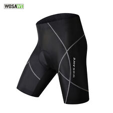 WOSAWE Mens Cycling Shorts Gel Padded Outdoor Bike Bicycle Pants-Lightning Black