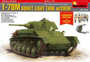 Miniart 35194 -1/35 T-70M Soviet Light Tank w/Crew Special Edition BLACK FRIDAY