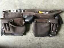 TOOL belt real leather workmans TOOL holder full grain leather NAILbag HOLDtools