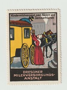 Germany- Dresdner Milk Process, poster stamp No.23  Packet to Driver Very Clean