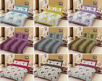 Floral Pattern Duvet Quilt Cover Set, Bedding Set, Single, Double, Super King