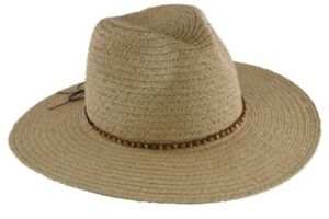 Women Straw Hat Long beaded String Wide Brim Anti-UV Adjustable Beach Sun Hat