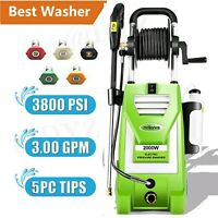 3800PSI 3.0GPM Electric Pressure Washer High Power Car Cold Water Cleaner Tool