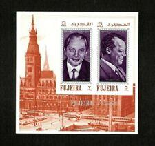 Fujeira 1970 - UAE Personalities German History Kiesinger and Brandt - S/S - MNH