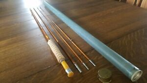 South Bend Bamboo Fly Rod 59 - 8 1/2' 3 Piece w/ Extra Tip.