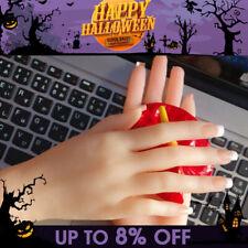 Fake Female Left Hand Silicone Lifelike Finger Model Jewelry Display