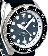 Vintage mens SEIKO diver 7002 Quartz mod 7S26 w/BLACK Mother Of Pearl TUNA dial!
