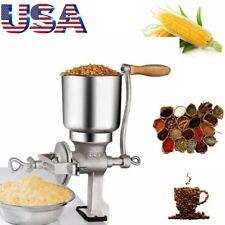 Iron Grinder Corn Coffee Wheat Manual Hand Held Grains Nut Mill  Crank Machine