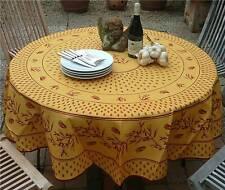Tischdecke Provence 180 cm rund terra Zikadenmotiv aus Frankreich, pflegeleicht