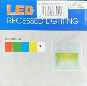1.5W LED Square Recessed Wall Light (Cool White) 240v 50HZ