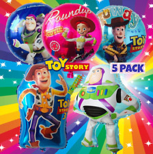 5 Pack Toy Story Woody Buzz Birthday Party Balloons Balloon JESSIE FOIL