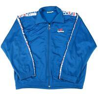 90s Vintage DIADORA Tracksuit Jacket | Men's M | Retro Tape Ribbon Track Zip
