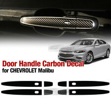 Side Door Catch Handle Carbon Decal Sticker For CHEVROLET 2016 - 2018 Malibu