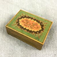 Vintage Sorrento Wooden Box Hand Painted Italian Wood Italy
