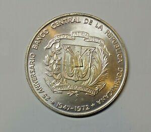 DOMINICAN REPUBLIC : SILVER PESO 1972. 0.900 SILVER