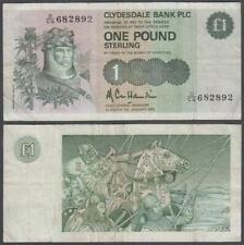 Scotland Clydesdale Bank PLC, 1 Pound Sterling, 1983, VF+++ (tiny tear), P-211b