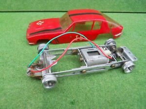 1960's 1/32 Adjustable slot car racing chassis with motor possibly Revell ???