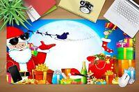3D Weihnachtsmann H922 Christmas Rutschfest Schreibtisch Matte Tastatur Pad Amy