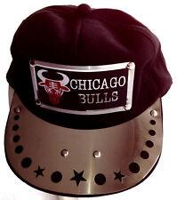 CHICAGO BULLS BASKETBALLL CAP BLACK & SILVER MENS WOMEN UNISEX ADJUSTABLE NEW
