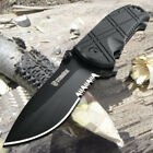 Spring Assisted Open Pocket Knife 3.4'' Serrated Tactical Knife Camping Survival