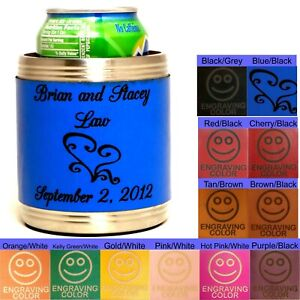 Personalized Can Koozies Wedding Party Head Table Bridal Shower Presents Cozy