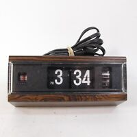 Vintage Copal Model 227 Flip Clock w/Alarm Made in Japan Tested Free Shipping