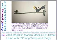 """EE 7048 Marklin HO Street Lamp, EE refurbished with 39"""" long new wires and plugs"""