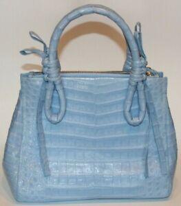 $3600 NWD Nancy Gonzalez Crocodile Double Handles  Bag Handbag