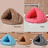 Puppy Pet Dog Cat Kitten Fleece Soft Warm Cave Bed Sleeping Bag Nest Mat Kennel、