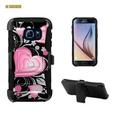 Beyond Cell Shell Case Armor Kombo For Samsung Galaxy S7 3D Hearts