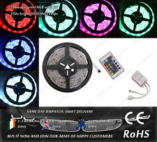 LED SMG RGB 5M Remote Controller Flexible Waterproof Strips Household Car 12VDC