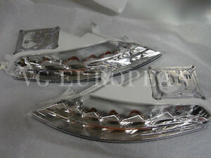 BMW E63 E64 LCI Genuine Front LED Turn Signal Lights 650i M6 2008-2010 NEW Pair