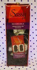 DEEP BROWN Reversible Drawstring Hair Piece Extension Straight Wavy Ponytail NIP