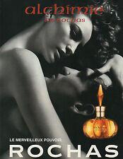 Publicité Advertising 1998  Parfum  ALCHIMIE  de  ROCHAS