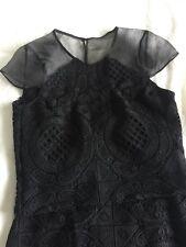 BNWOT PORTMANS Black Lace Set Skirt + Top Size 6