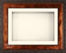 "BabyRice 11.5x8.5"" Urban Bronze 3D Display Frame / 1 Hole Cream Mount"