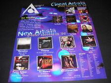 AEC 1996 Promo Poster Ad KING CRIMSON Iron Maiden VITAPUP Mavericks DJ QUIK more