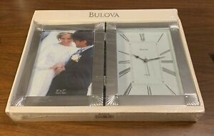 Bulova Ceremonial Picture Frame/Desk Clock - B1254 - new in package - engrave