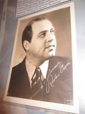 American Tenor Richard Crooks- Vintage Sepia Photograph Signed