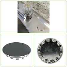 """Sink Hole Cover Chrome Plated 1-1/4"""" Kitchen Plumbing Sink Part Repair Snap-in"""