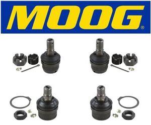 Moog Set Of 2 Upper & 2 Lower Ball Joints Fits 1987 Dodge W150