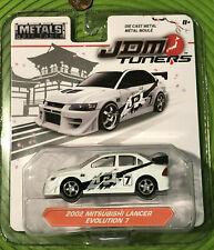 Metals Jada JDM Tuners '02 2002 Mitsubishi Lancer Evolution 7 White EVO vii