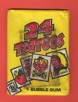 1971 Topps UK 24 Tattoos Unopened Pack  Very HTF