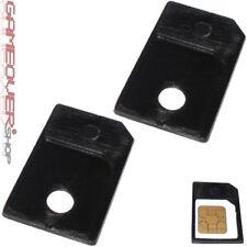 2x MicroSim Adapter Halter Halterung Set für Handy Karten Card Micro