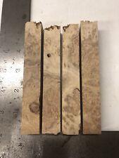 4 Australian Red Coolibah Burl Wood Pen Blanks Turning Blanks Nice Figure Dry